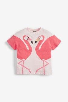 Sequin Flamingo T-Shirt (3-16yrs)