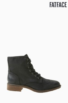 FatFace Black Camilla Lace-Up Boots