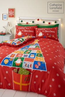 Catherine Lansfield Countdown To Christmas Duvet Cover and Pillowcase Set