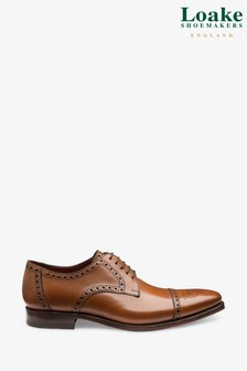 Loake Tan Foley Brogue Shoes