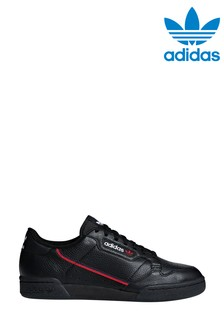 adidas Originals Black/Red Continental 80 Trainers