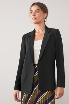 Relaxed Soft Crepe Blazer