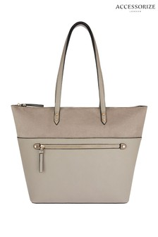 Accessorize Grey Molly Tote Bag