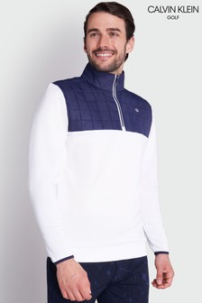 Белая куртка с молнией Calvin Klein Golf Vardon Hybrid