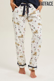 Pantalones clásicos en natural con diseño de león durmiente de FatFace