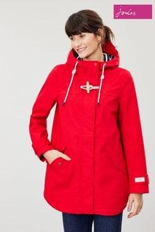 Jachetă impermeabilă medie Joules Coast roșie