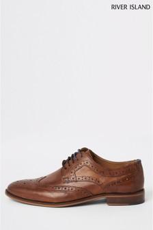 River Island Brown Ruxley Shoes