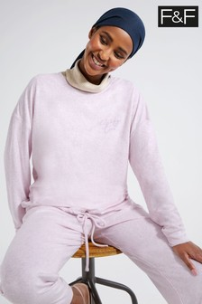 F&F Lilac Spring Towelling Top