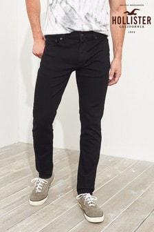 Черные джинсы скинни Hollister