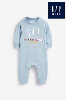 Голубой комбинезон без носочков Gap