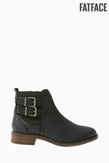 FatFace Black Dalby Double Strap Chelsea Boots
