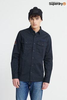 Superdry Navy Military Long Sleeve Shirt