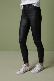 Окрашенные зауженные джинсы
