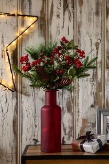Red Winter Berries Vase