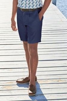 Linen Blend Shorts