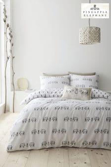 Pineapple Elephant Natural Tembo Duvet Cover and Pillowcase Set