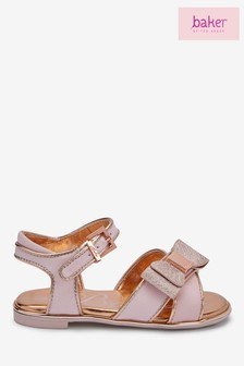 baker by Ted Baker Pink Gros Grain Sandals