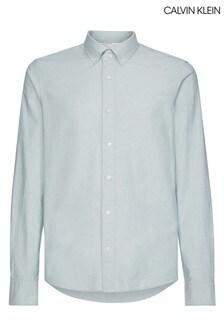 Calvin Klein Green Slim Fit Stretch Oxford Shirt