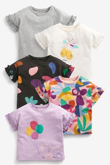 5 Pack Organic Cotton T-Shirts (3mths-7yrs)