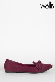 נעליים עם חרטום מחודד ועיטור פפיון של Wallis דגם Betsy Mulberry באדום
