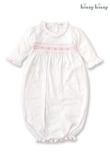 Белое свободное платье с ручной вышивкойKissy Kissy