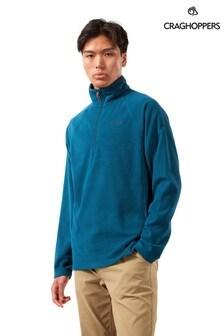 Синий флисовый джемпер с короткой молнией Craghoppers Corey