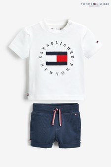 Tommy Hilfiger Baby Cream Cotton Outfit