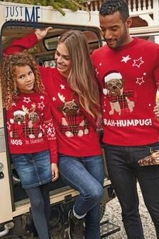 Otroški pulover Matching Family Bah Humpug (3–16 let)