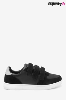 Superdry Black Edit Velvet Velcro Trainers
