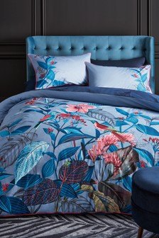 100% Cotton Posh Tropics Duvet Cover And Pillowcase Set