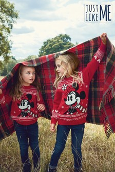 Matching Family Kids Christmas Minnie Mouse™ Jumper (3-16yrs)