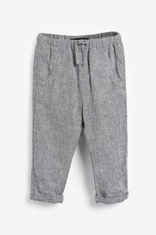 Pantalon en mélange de lin (3 mois - 7 ans)