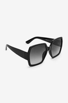 Duże kwadratowe okulary przeciwsłoneczne