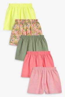 5 Pack Pretty Shorts (3mths-7yrs)