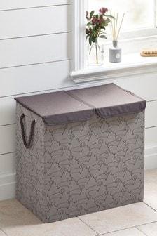 115-litrowy kosz do sortowania prania z motywem jamnika