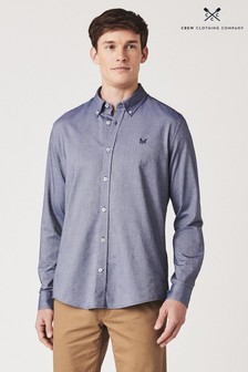 Chemise slim Oxford Crew Clothing Company bleue