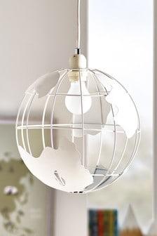 White Easy Fit Globe Light Shade
