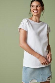 Camiseta con encaje