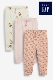 Набор из трех спортивных брюк (с цветочным принтом/пр.) Gap