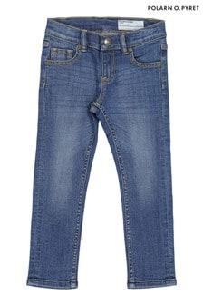 Polarn O. Pyret Bci棉質藍色窄管牛仔褲