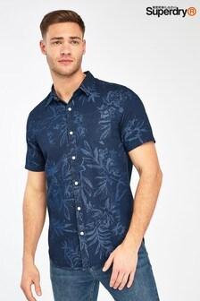 Superdry Navy Industrial Short Sleeve Shirt