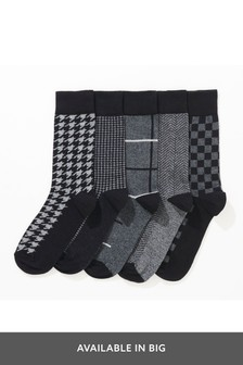 حزمة من خمسة جوارب نقوش متنوعة
