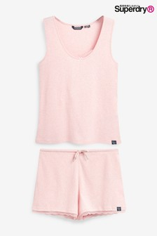 Superdry Pink Vest Pyjama Set