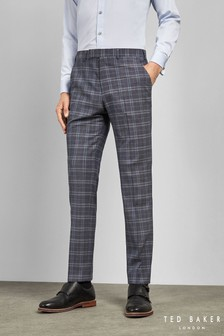 Ted Baker Blue Sterling Check Trousers