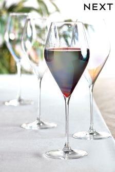 Набор из 4 бокалов для красного вина с блестящим эффектом Paris