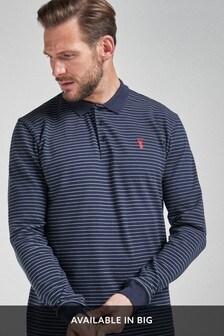 חולצת פולו מאריג פיקה עם שרוולים ארוכים
