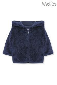 Niebieska kurtka M&Co Blue ze sztucznego kożuszka