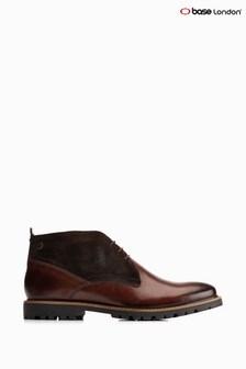 Base London® Brown Brady Waxy/Suede Chukka Boots