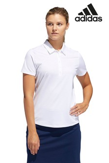 adidas Golf White Ultimate Polo
