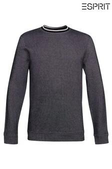 Esprit Black Men Long Sleeve Sweatshirt